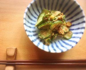 きゅうりの酢味噌和え